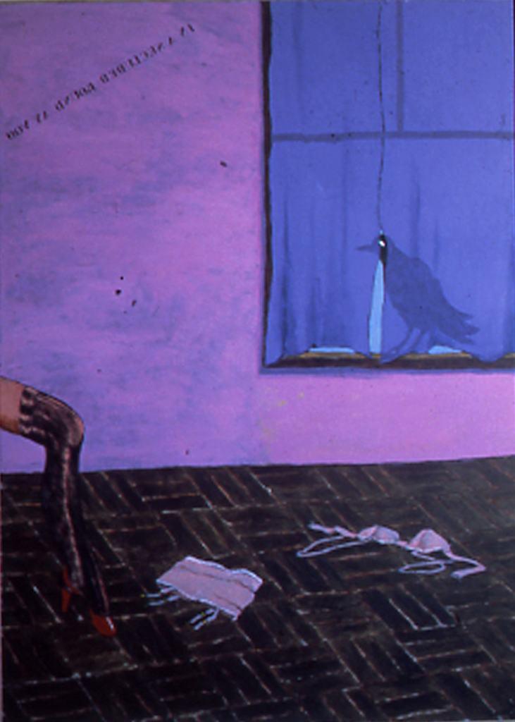 Colescott-Crow-in Window