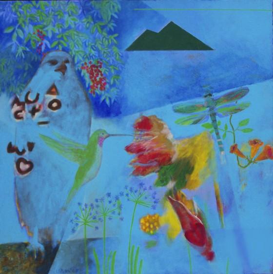 "Gift of Life, 2007, 31"" x 31"", Acrylic on canvas"